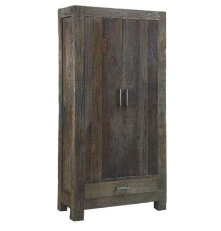 Teak opbergkast 2 deurs Mixed Wood