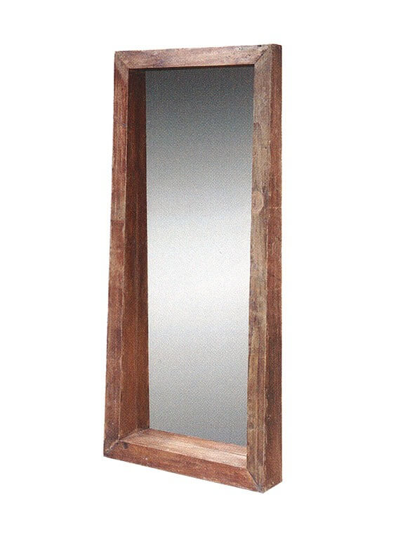 Teakhouten spiegel