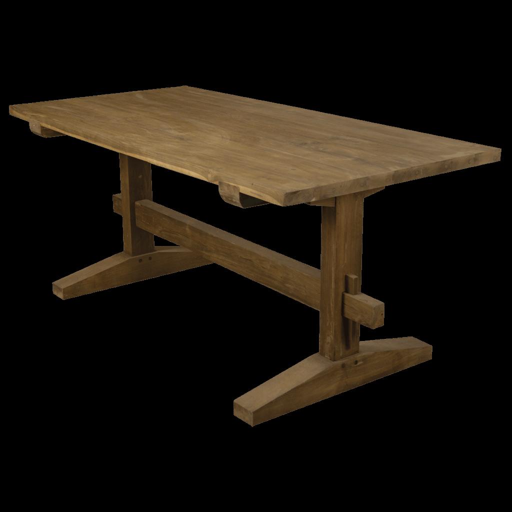 Eetkamertafel closter teak en wood - Glazen tafel gesmeed ijzer en stoelen ...