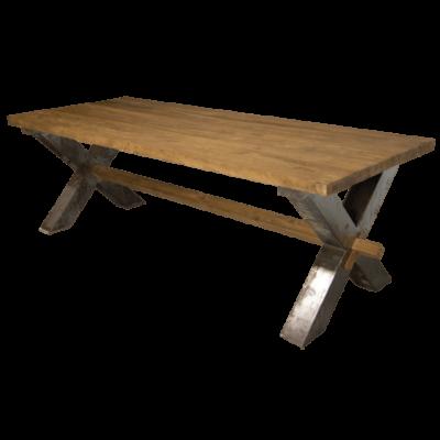 Teakhouten Tafel Met Stalen Poten.Teak Tafel Voor Een Sfeervolle Eetkamer Teak En Wood