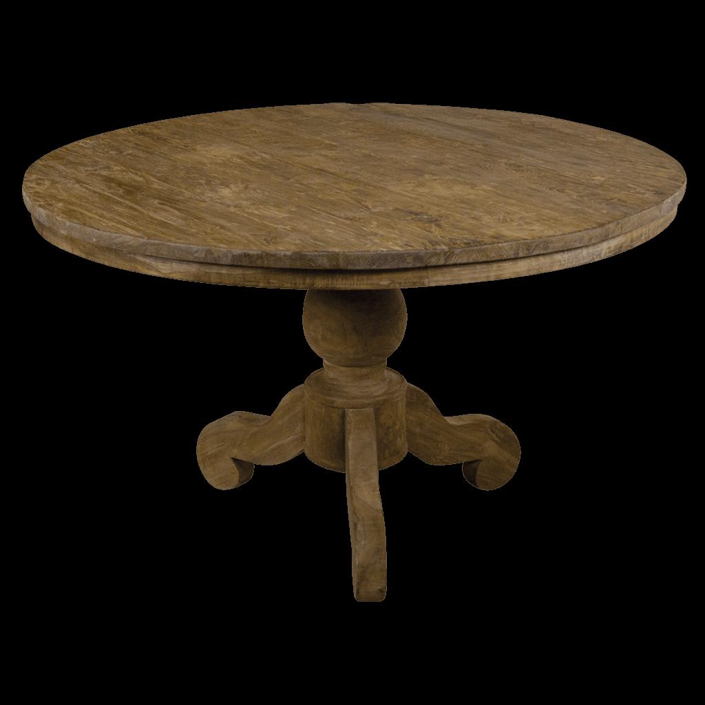 Eetkamertafel rond dengkleh teak en wood for Eettafel rond