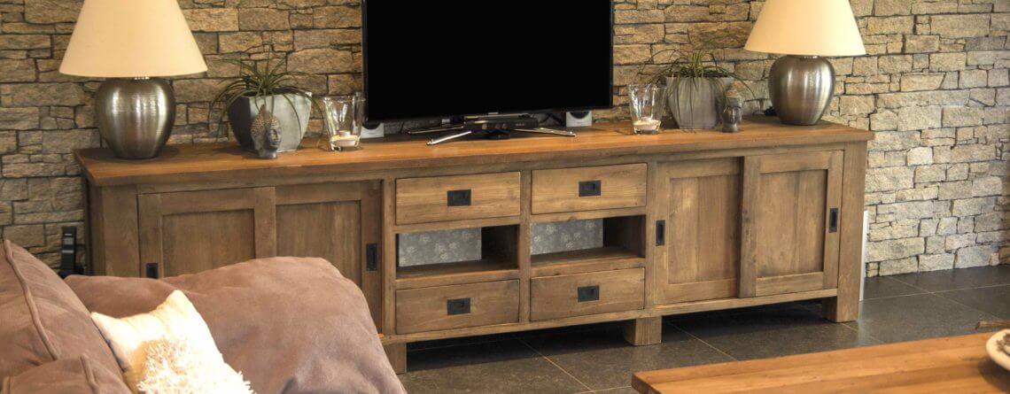Koloniaal Teak Houten Tv Kast.Tv Meubel Kopen 4 Handige Tips Teak En Wood