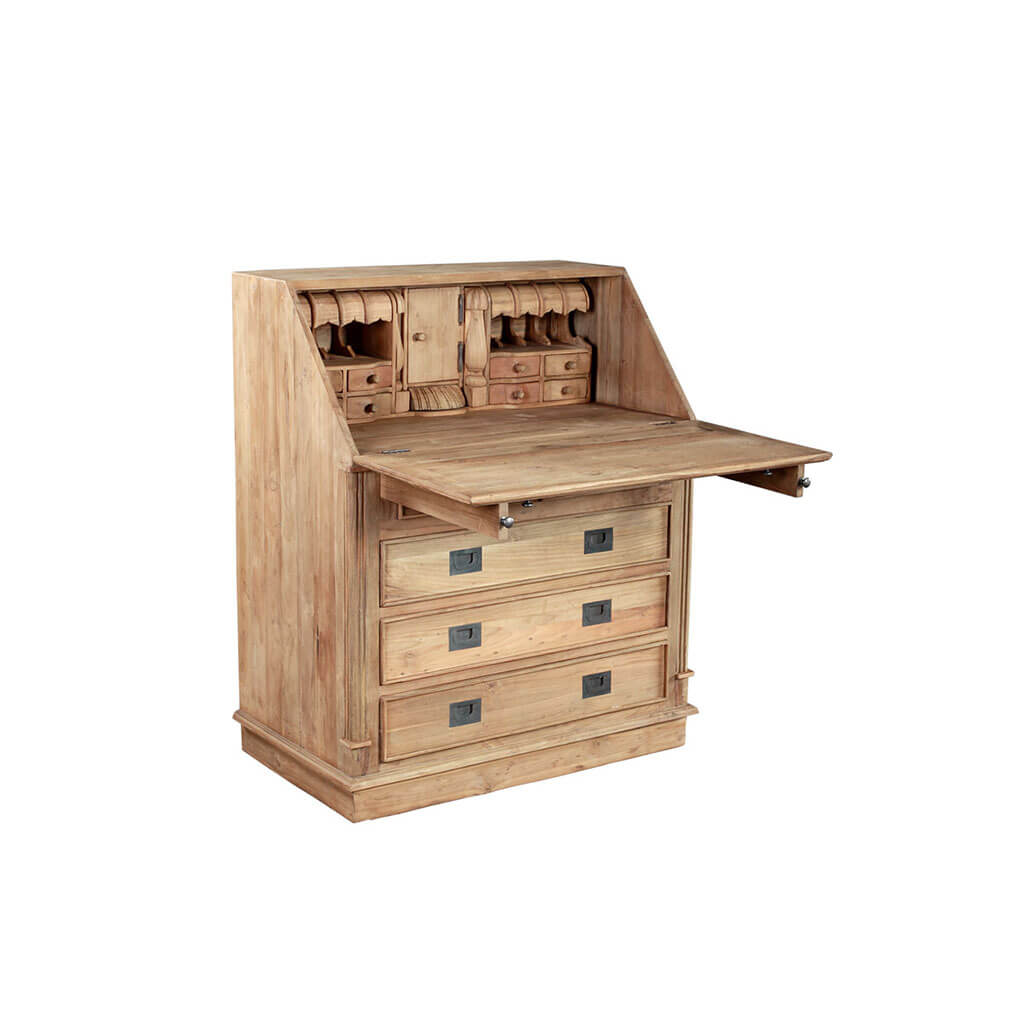 secretaire biro teak en wood. Black Bedroom Furniture Sets. Home Design Ideas