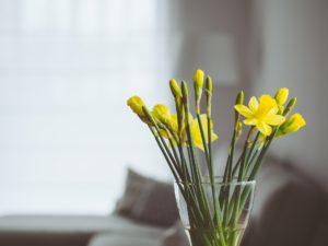 Bloemen natuurlijk interieur