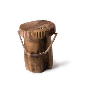 teak houten kruk