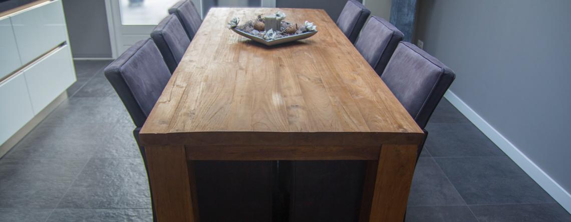luxe houten tafel
